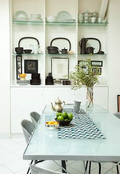 #interior #styling #dining #decor #shelves #storage
