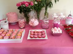 Breast cancer candy buffet