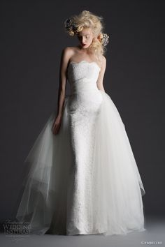 cymbeline paris 2014 hindi hosta over skirt strapless wedding dress