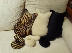 Cat pillows.  So cute!! For ppl who like cats LOL