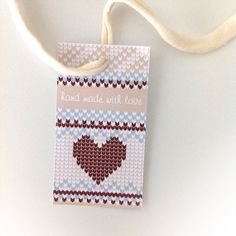 Printable Tags for knitters and crochetters.