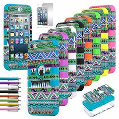 Hybrid Tribal High Impact Hard Soft Case Cover for Apple iPod Touch 5 5G 5th Gen #ifihadaipod