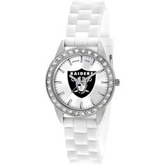Ladies NFL Oakland Raiders Frost Womens Watch ($60) ❤ liked on Polyvore featuring jewelry, watches, nfl jewelry and nfl watches