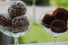 Chickpea Peanut Butter Truffles with Cacao and Coconut Flakes