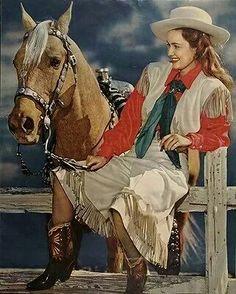 Vintage cowgirl