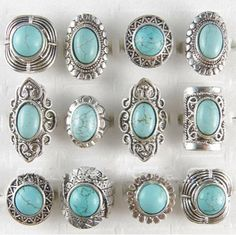 Can't decide which one you like best? Take them all! These turquoise rings are adjustable and look gorgeous on any hand.