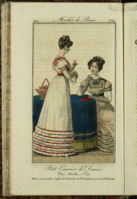 Petit Courrier des Dames : annonces des modes, des nouveautés et des arts del 31 de Julio de 1822