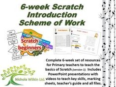 Free computing teaching resource includes 6 weeks of lesson plans and all resources to teach basic programming using Scratch. Suitable for primary KS2 teachers. A computer science curriculum unit by Nichola Wilkin Ltd.