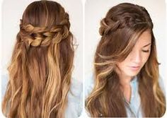 Resultado de imagem para fotos de penteados com tranças