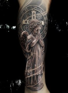 Tattoo work by Michael Dagostinii – Tattoos – Cozy Places Body Art Tattoos, Tattoo Drawings, Hand Tattoos, Cool Tattoos, Amazing Tattoos, Picture Tattoos, Jesus Tattoo, Tattoo Life, Christus Tattoo