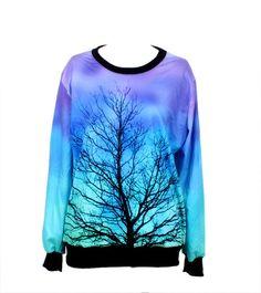 Growing Tree Painting Print Leisure Sweatshirt