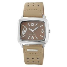 """Nine West Women's NW1081BNCM Square Silver-Tone and Tan Strap Watch Nine West. $39.00. Silver-tone arabic numerals at 11-3-6 and """"9"""" at 9 o'clock. Tan strap. Silver-tone index markers at 1-2-4-5-7-8-10-11. Square silver-tone bezel and brown dial. Silver-tone luminous hour hands and sweep second hand"""