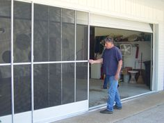 This Is Something New Retractable Screen For Your Garage