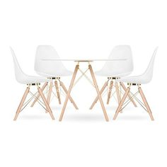 Source Moda Dining Set by Cult Furniture Dinning Set, White Dining Table, Round Dining Table, Modern Bar Stools, Mid Century Design, Scandinavian Design, Wood Furniture, Contemporary, Chairs