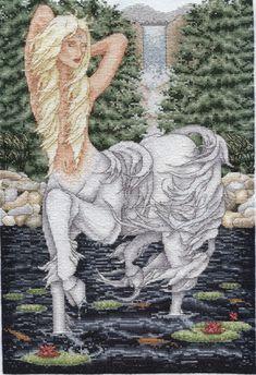 Bathing Centaur cross stitch pattern by Patricia by PatriciaAikin