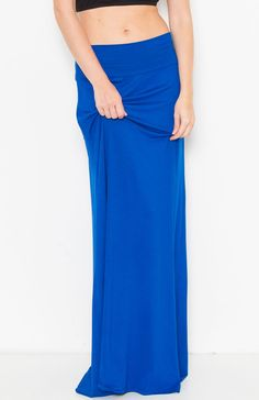 Solid Banded Maxi Skirt – Moonshine & Lace Royal Blue maxi www.moonshinelace.com