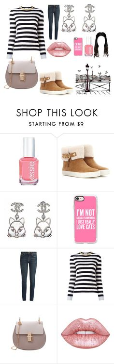 """""""First Day of November"""" by lilian-n1113 ❤ liked on Polyvore featuring Essie, Burberry, Casetify, Yves Saint Laurent, Gucci and Lime Crime"""