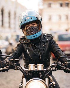 Black motorcycle jacket with off-set zipper