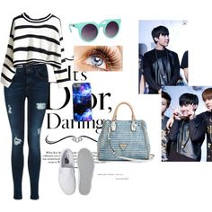 travel with J-Hope Outfit by cahzenzen on Polyvore featuring polyvore fashion style Vans GUESS Quay music tumblr kpop bts