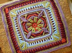 hummingbird square crochet   CrochetHolic - HilariaFina / Hummingbird Square, Crochet. Pattern by ...