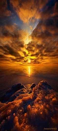 Golden sunset in Wisconsin ~ by Phil Koch