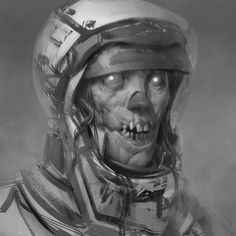 jhonny peralta by ayran oberto Spectrum III: The Best in Contemporary Fantastic Art Character Concept, Character Art, Concept Art, Arte Horror, Horror Art, Dark Fantasy Art, Dark Art, Art Anime, Art Station