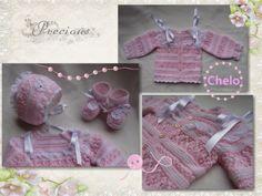 El rincón de Chelo: Conjunto bebé en rosa con puntillas