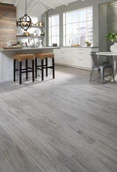 Home design light grey wood floors, grey flooring, gray hardwood fl Light Grey Wood Floors, Grey Hardwood Floors, Grey Wood Tile, Wood Tile Floors, Grey Walls, Engineered Hardwood, Grey Wooden Floor, Dark Walls, Modern Wood Floors