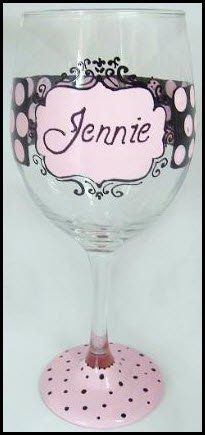 Hand painted wine glasses by my talented cousin!!!!! <3