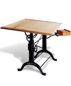 A neat antique drafting table for you @leebunting They also have it with the legs in red steel!