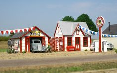 All American Service Station HO Scale - AMB - currently building this one