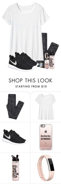 """""""Work work work work work"""" by evedriggers ❤ liked on Polyvore featuring Toast, NIKE, Casetify and Fitbit"""