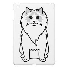Ragdoll Cat Cartoon iPad Mini Case