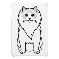 Ragdoll Cat Cartoon iPad Mini Case