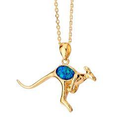 AUSTRALIA OPAL - Opal Kangaroo Pendant (P1013600GB), $105.00 (http://www.australiaopal.com.au/opal-pendant-p1013600gb/)