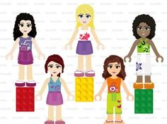 Lego Friends Digital Clipart