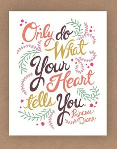 8x10in Princess Diana Quote Illustration Print by unraveleddesign, $25.00