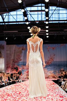 """Claire Pettibone """"Earthly Paradise"""" 2013 Collection, seen on Merci New York, a fashion blog for brides - http://mercinewyork.blogspot.com/2012/10/claire-pettibones-new-wedding-dress.html# #flowers #lace #romance #gowns"""