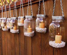Set of 10 Ball Mason Jar Luminary Lights