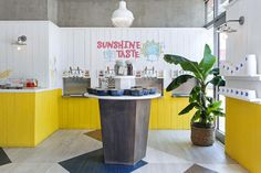 MILKYWAVE Californian beach life inspired us to design this colorful ice cream shop..