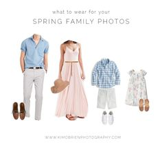 what to wear for your spring family photo sessionphotography #whattowear