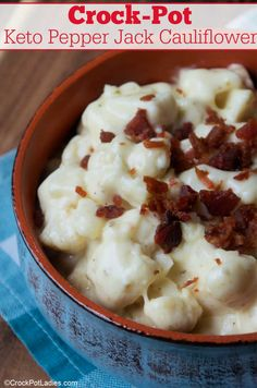 Easy Pork Chop Recipes, New Recipes, Crockpot Recipes, Vegetarian Recipes, Cooking Recipes, Healthy Recipes, Casserole Recipes, Cauliflower Slow Cooker, Cauliflower Recipes