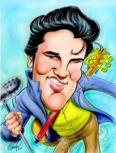 Elvis Presley (Caricature) http://dunway.us