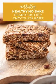 Raise your hand if you're a snack lover! 🙋🏻‍♀️ These no-bake peanut butter cacao bars are super simple to make, healthy, delicious, and can help curb your cravings thanks to the addition of Cacao Bliss. What could be better? Check out the recipe and see for yourself! Peanut Butter Chocolate Bars, Creamy Peanut Butter, Healthy Baking, Healthy Snacks, Healthy Recipes, Energy Bars, Baking Pans, Superfood, Cravings