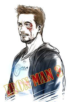 """Tony in """"Iron Man 3"""""""