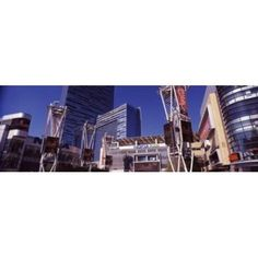 Skyscrapers in a city Nokia Plaza City of Los Angeles California USA Canvas Art - Panoramic Images (18 x 6)