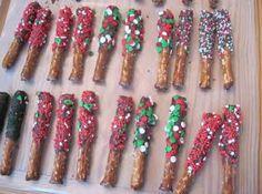 Chocolate Dipped Pretzel Rods Recipe