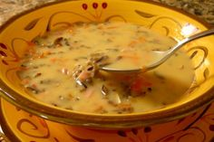 Byerly s Wild Rice Soup from Food.com: This wonderful soup recipe, is from my favorite grocery store, located in Minneapolis, MN. I make it using wild rice that has been harvested by hand, thus supporting the Native American's who grow it in Northern MN. There really is a difference.