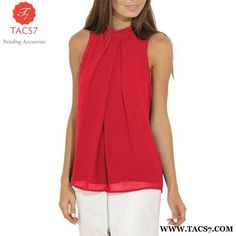 Casual Sleeveless O-Neck top