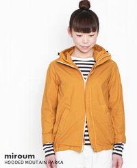 miroum [ミロウム] フード付きジャケット (マウンテンパーカー) 2色